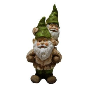 PIGGY BACK GARDEN GNOMES