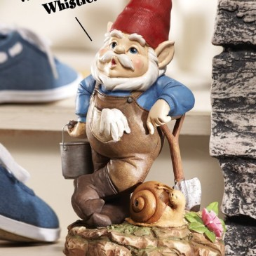 WHISTLING MOTION SENSOR SECURITY GARDEN GNOME