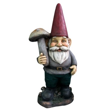 GARDEN GNOME WITH A MUSHROOM