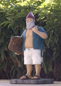 KEOLA HAWAIIAN SURFER GARDEN GNOME