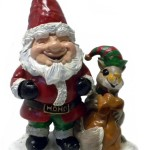 SANTA GNOME AND HIS SQUIRREL HELPER ELF