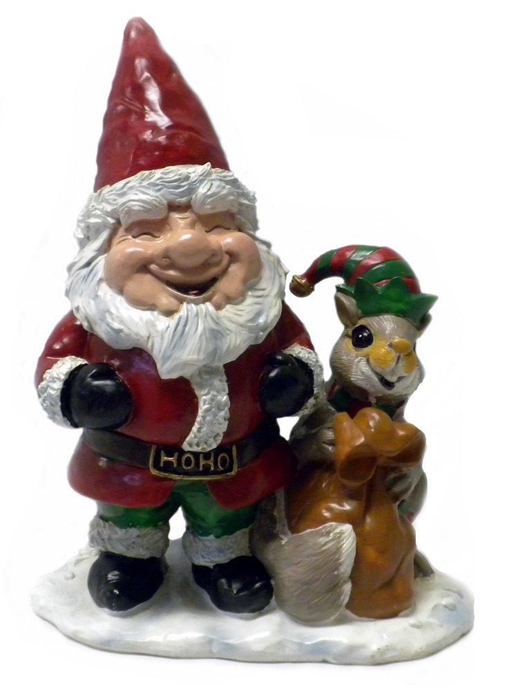 SANTA GNOME AND HIS SQUIRREL HELPER ELF