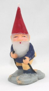 Skiing Gnome Candle