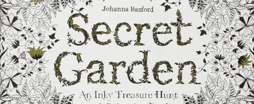 secret garden inky treasure hunt coloring book