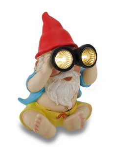 Beach Bum Solar  Binoculars Lights Garden Gnome