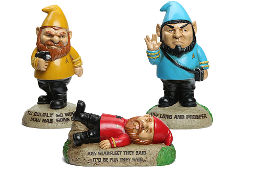STAR TREK Original Series GARDEN GNOMES