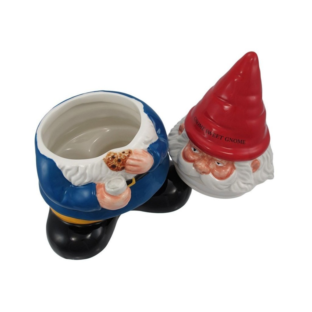 Gnome Cookie Jar Open