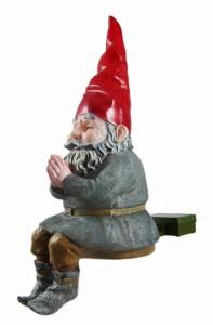 MORDECAI Glowing Gnome Solar Garden  side