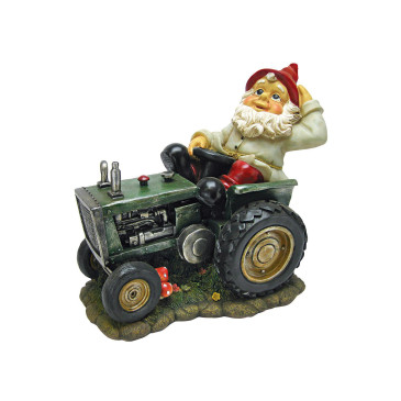 PLOWING PETE Farmer Gnome