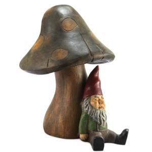 BLUETOOTH SPEAKER MUSHROOM WITH GNOME
